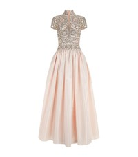 Naeem Khan Embellished Faille Gown Female Pink