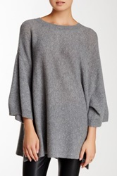 14Th And Union Short Sleeve Cashmere Sweater Gray