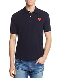 Comme Des Garcons Play Pique Slim Fit Polo Shirt Navy