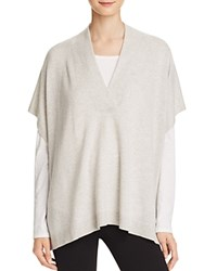 Bloomingdale's C By Cashmere Poncho Sweater Frost