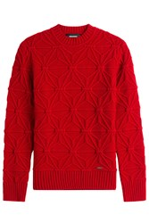 Dsquared2 Patterned Knit Pullover Red
