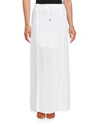 Splendid Textured Crepe Maxi Skirt White