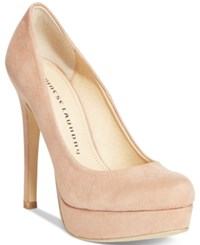 Chinese Laundry Wonder Platform Pumps Women's Shoes Nude Suede