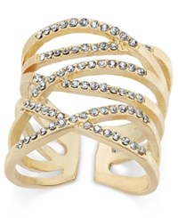 Inc International Concepts Gold Tone Pave Interlocking Ring Only At Macy's