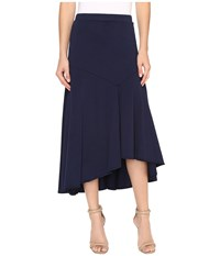 Mod O Doc Classic Jersey Hi Low Asymmetrical Seamed Skirt True Navy Women's Skirt