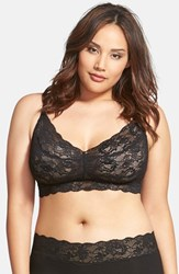 Plus Size Women's Cosabella 'Never Say Never Sweetie' Bralette Black