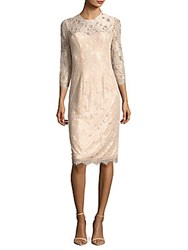 Js Collections Midi Lace Shift Dress Rose Gold
