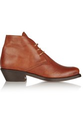 Rupert Sanderson Norway Leather Ankle Boots Tan