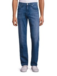 7 For All Mankind Luxe Performance Austyn Relaxed Straight Leg Jeans Nakkitta Blue