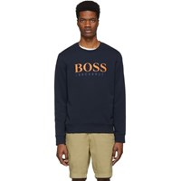 Boss Navy Logo Sweatshirt
