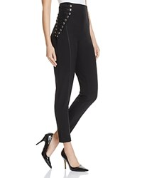 Gracia High Rise Lace Up Pants Compare At 104 Black
