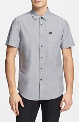 Rvca Men's 'That'll Do' Slim Fit Short Sleeve Oxford Shirt Pavement