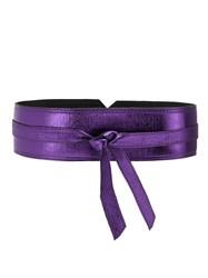 Spacenk Nk Metallic Leather Belt Pink And Purple