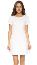Alice Olivia Liv Drop Waist A Line Dress White