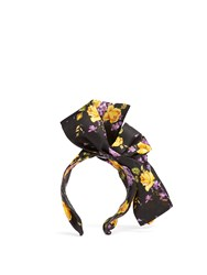 Dolce And Gabbana Floral Print Headband Black