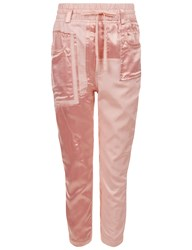 Haider Ackermann Pale Pink Satin Patch Joggers Nude