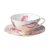 Wedgwood Cuckoo Teacup And Saucer Peach