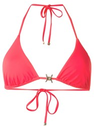 Dsquared2 Barbed Wire Detail Bikini Top Pink And Purple