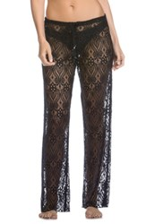 Becca Women's Poetic Lace Cover Up Pants Black