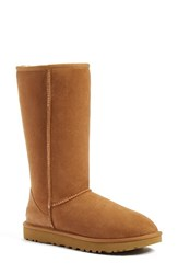 Uggr Women's Ugg 'Classic Ii' Genuine Shearling Lined Tall Boot Chestnut Suede