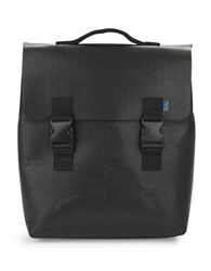 M R K T Carter Felt And Faux Leather Backpack Black