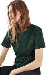 Topshop Women's Distressed Edge Tee Forest