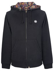 Pretty Green Men's Raynham Paisley Lined Hoody Black
