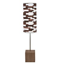 Jefdesigns Tile 3 Cuboid Table Lamp Brown