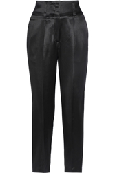 Givenchy Cropped Silk Satin Tapered Pants
