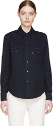 Levi's Deep Indigo Denim Western Shirt