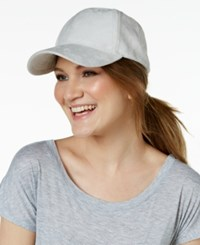 Collection Xiix Faux Suede Baseball Cap Grey