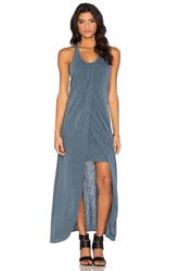 Stateside Supima Slub Jersey Scoop Neck Racerback Maxi Dress Gray