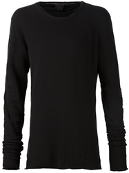 Thom Krom Frayed Edge Sweatshirt Black