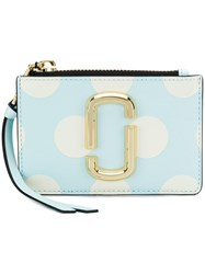 Marc Jacobs Polka Dot Top Zip Purse Blue