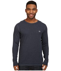 Billabong Essential Thermal Navy Heather Men's Long Sleeve Pullover Gray