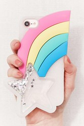 Urban Outfitters Rainbow Star Silicone Iphone 8 7 6 Case Multi