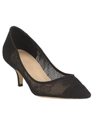 Phase Eight Reese Lace Kitten Heel Shoes Black