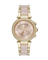 39Mm Parker Crystal Chronograph Watch Rose Golden Rose Gold Michael Michael Kors