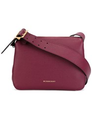 Burberry Top Zip Shoulder Bag Red
