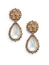 Stephen Dweck Mother Of Pearl Doublet Drop Earrings Bronze