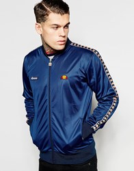 Ellesse Track Jacket With Logo Taping Blue