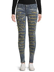 Robin's Jean Frayed Trimmed Jeans Boston