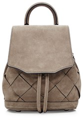 Rag And Bone Small Suede Backpack Grey