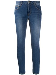 Sjyp Mid Rise Skinny Jeans Blue