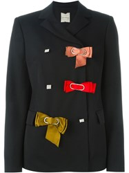 Lanvin Bow Detail Blazer Black