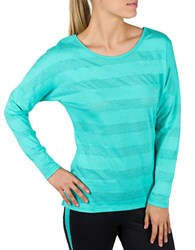 Jockey Mesh Stripe Burnout Yoga Top