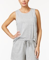 Nautica Striped Pajama Tank Top Heather Grey Stripe