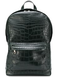 Liska Embossed Surface Backpack Green