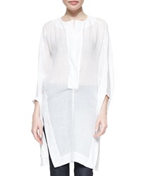 Donna Karan Three Quarter Full Sleeve Tunic White