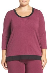 Dkny Plus Size Women's 'Urban Essantials' Stretch Modal Lounge Tee